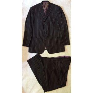 Earvin Magic Johnson Mens Suit 2pc 42L Brown